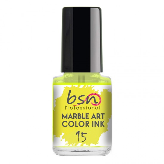 15 NEON YELLOW - Water Marble color Ink - 12ml