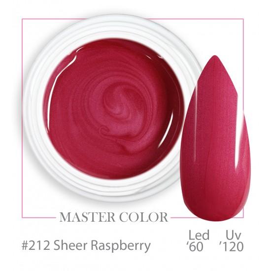 212 - Sheer Rasberry - Master Color - Gel color UV LED - 5ml