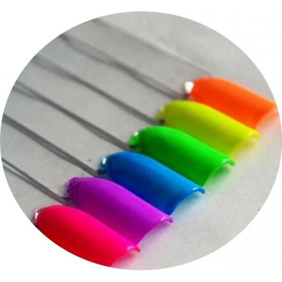 SET 6 NEON COLOR PIGMENT POWDERS - PIGMENT POWDER for nail decoration