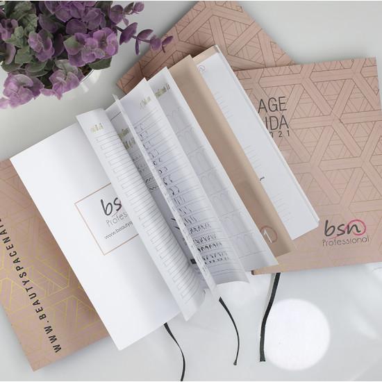 Agenda da borsa Beauty Space nails 2021 - copertina flessibile