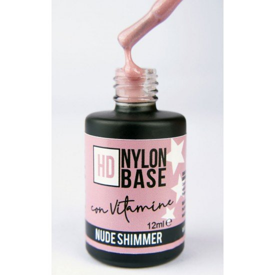 Nude Shimmer - Hd Nylon Soak Off Base Builder with Vitamin E and Calcium