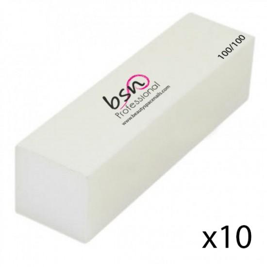 Buffer rosa - Mattoncino opacizzante/levigante con gritt 100/100
